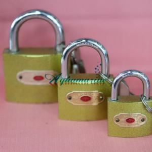 Cerradura de imitación cobre, core de hierro, varios tamaños