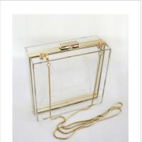 Lucite acrylic clutch box / clear acrylic storage containers For Girls Manufactures