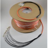 12/24 Strand Multimode Fiber Optic Cable Pre Terminated High Density With LC Connectors Manufactures