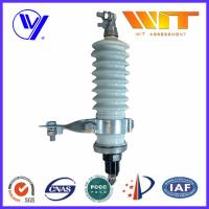 60KV High Voltage Porcelain Surge Arrester for Electrical Transformer Manufactures