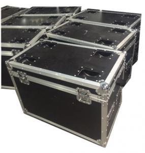 Aluminum Black Rack Flight Case / Custom Made Flight Cases With Ergonomic Lock Manufactures