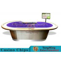 Professional Luxury BaccaratPoker Game TableWith Chip Tray For 9 Players Manufactures
