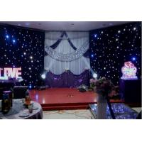 Quality Fireproof Velvet LED Star Cloth Curtain Events Background Stage Decor for sale