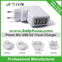 Promotional 4 usb travel charger Manufactures
