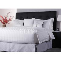 60% Cotton 40% Polyester Tone-on-Tone Stripe Hotel Linen Bed Sets Single Size or Twin Size Manufactures