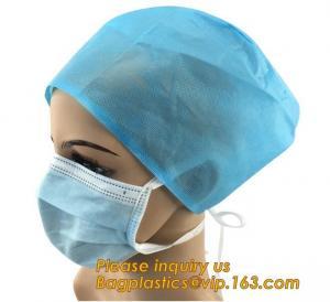 Disposable PP Non Woven Medical Surgical Clip Mob Cap Caps,Doctor surgical medical strip round bouffant non woven clip c Manufactures