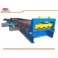 Galvanized Color Steel Floor Deck Plate Roll Forming Machine / Forling Line Manufactures
