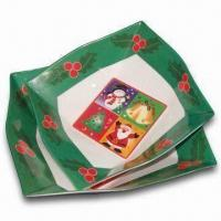 Plates/Dish Set, Available in Various Colors, Designs and Sizes, Made of Melamine Material Manufactures