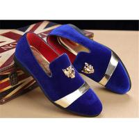 Men'S Velvet Loafer Shoes With Personality Tiger Head Gold Buckle Red Bottom Shoes Manufactures