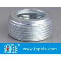 Electrical IMC Conduit Fittings Zinc Plated Steel Reducing Bushing , Threaded Reducer Manufactures