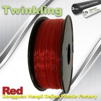 Quality Flexible 3D Printer Filament Twinkling 3mm 1.75mm Red Filament 1.3Kg / Roll for sale