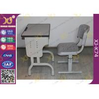 Durable School Desk And Chair for Kids Study , Plywood Desk Top With PVC Edge Manufactures