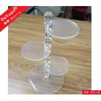 Crystal Bubble Rod Plexiglass Cake Clear Plastic Display Stands 4 Tiers Manufactures