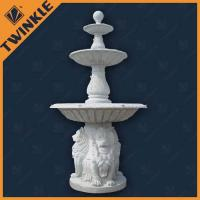 White Marble Natural Stone Water Fountains Outdoor With Lion Statue Manufactures