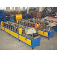 Colored Steel Gutter Steel Sheet Roll Forming Machine With PLC Control System Manufactures