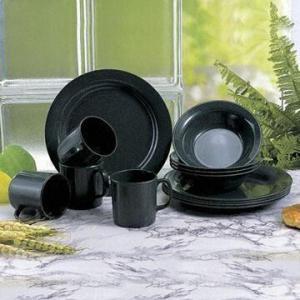 Black Melamine Dinner Set in Japanese Style Manufactures