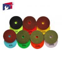 China 100mm Granite Diamond Polishing Pads 80 - 220 Mm For Buffing Marble Concrete on sale
