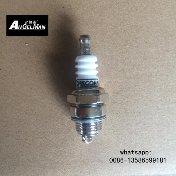 Quality OREGON gasoline Chainsaw Spark Plug PR15Y With Shining Nickel L7T lawn mower spark plug for sale