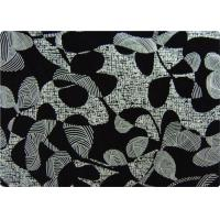 Black Printed Flocked Fabric / Cloth For Home Textile Sofa Pillow Manufactures