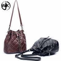 New design hot sale popular ladies leather bucket bag custom leather strap for bag for ladies tote leather handbag Manufactures
