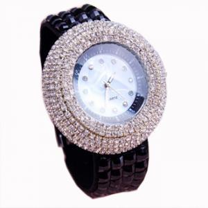China 2015 NEW Ladies Steel silver jewelry Crystal Fashion Woman quartz Vogue Watch women fashion luxury watch on sale