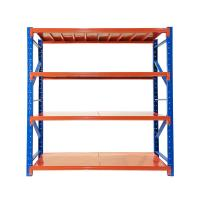 China Powder Coated Steel Shelving Racks 200kg Per Layer Loading For Company Storages on sale