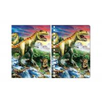 China Amazing Dinosaur 3D Lenticular Spiral Notebook Cover Eco - Friendly on sale