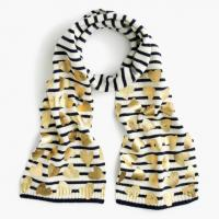 China Heart Foil Print Knitted Neck Scarf For Girls Children Size Easy To Pair Winter Clothes on sale