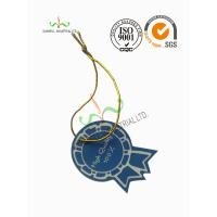 Multi Colored Clothing Hang Tags With Metallic String Round Corner Shape Manufactures