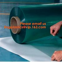 Rigid PET Film coated with PE protective film, white color protective film for car, clear carpet protective film in roll Manufactures