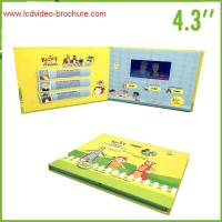 Customized lcd video production brochure with hard cover , A4 / A5 size Manufactures