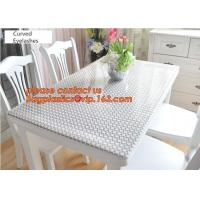 PVC Tablecloth Gold Silver Flower Soft Glass Square/Rectangle Tablecover Waterproof Oilproof Dining Table cloth BAGEASE Manufactures