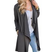 Viscose Blends Womens Long Cardigans Solid High Low Long Sleeve Open Front Cardigan Manufactures