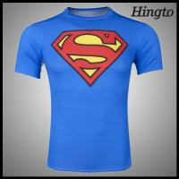 Blue Super Man Compression Wear Sublimated Compression Shirts Manufactures