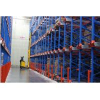 Food industry pallet shuttle racking system with forklift truck / shuttle machines Manufactures