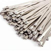 4.6X200mm SS304 Self Locking Stainless Steel Cable Ties Customizable Thickness Manufactures