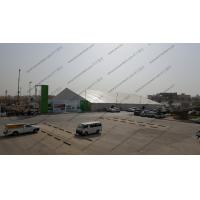 China Heavy Duty Aluminum Frame Tent White PVC Cover UV Resistant ABS / Plain Sidewalls on sale