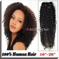 Kinky Curly Indian Virgin Hair Extensions Tangle - Free 14 Inch AAAAA Grade Manufactures