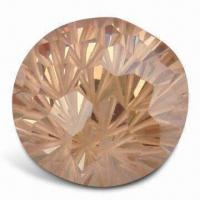 Ball-shaped Synthetic Gemstone, Made of Cubic Zirconia Manufactures