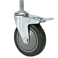 100mm PVC caster wheel,castor wheel with brake Manufactures