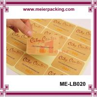 China Craft Paper Sticker/Kraft Paper Label Sticker/Custom Rectangular Paper Letter Sticker  ME-LB020 on sale