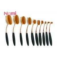 Soft Eye Makeup Brushes , Oval Cosmetic Brush Set Natural Pure Goat Hair Material Manufactures