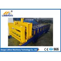 Automatic Glazed Tile Roll Forming Machine , PLC Control Roof Tile Manufacturing Machine
