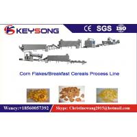Stainless Steel Food Processing Machinery , Roasted Corn Flakes Production Line Manufactures