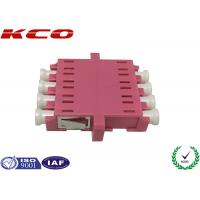 China OM3 LC Fiber Optic Adapter 4 Ways Single Mode IEC Standards Customized on sale