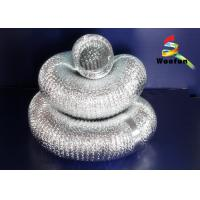 5 Inch Silvery Aluminum Flexible Duct , Flame Resistant Flexible Aluminium Ducting Manufactures