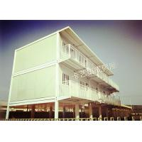 China Bright Metal Shipping Container Houses With 6 Double Beds For Factory Workers on sale