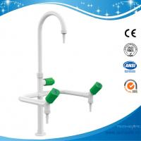 SHA1-Three Way/Triple outlet Lab Tap/Faucet,brass,360°swing,White/lever handle optional Manufactures