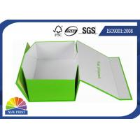 Custom Rectangle Folding Paper Gift Box / Printed Paper Storage Boxes for Shoes or Garment Manufactures