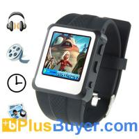 Digital Watch MP4 Player (1.5 inch, 8GB, Black) Manufactures